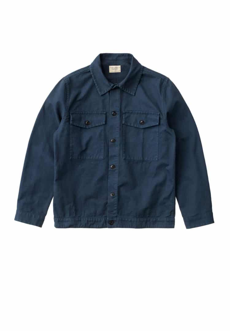 Nudie Jeans Colin Canvas Overshirt Navy