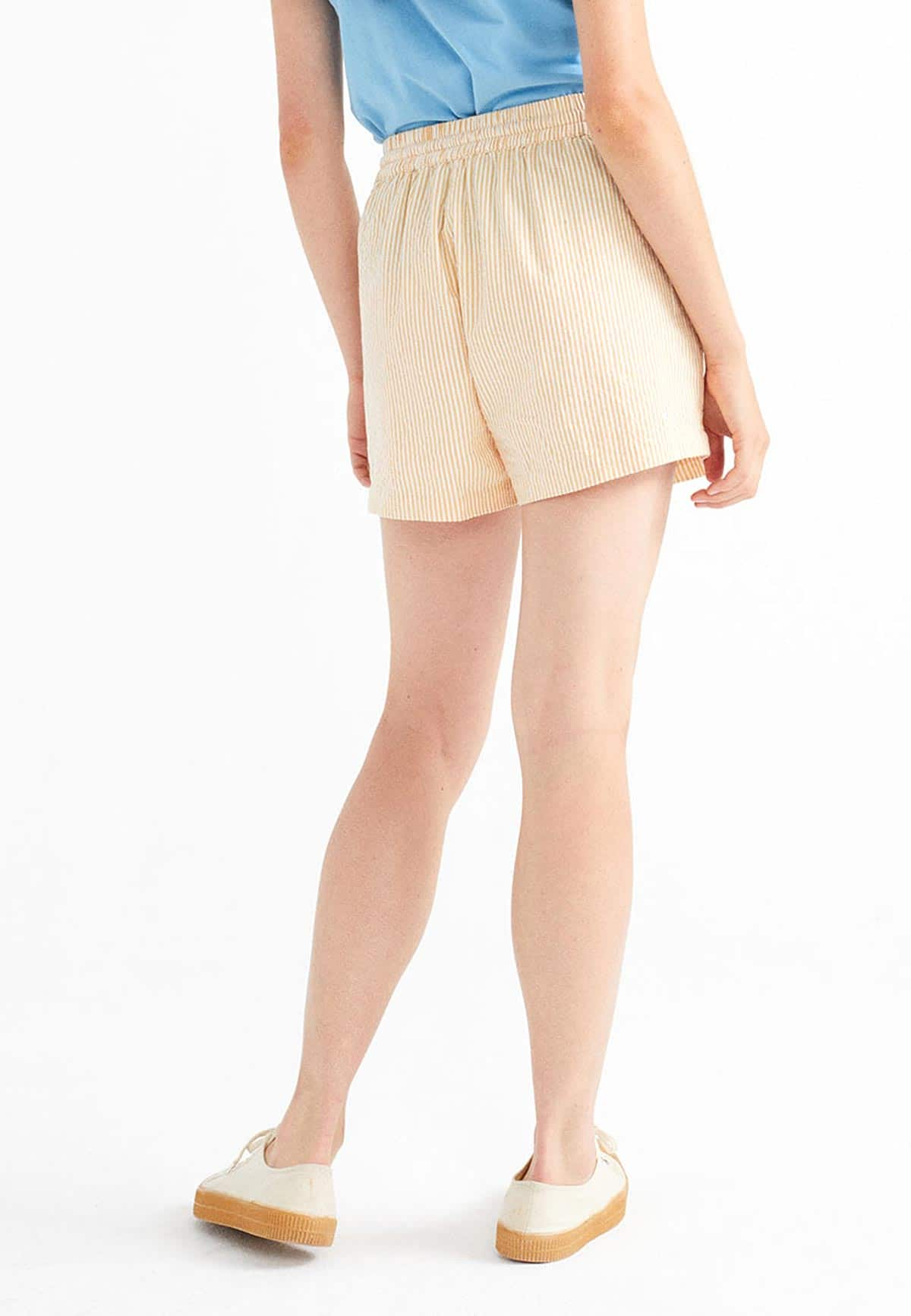 Thinking Mu Seersucker Geranio Shorts