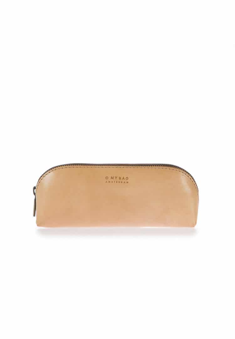 O my bag pencil case large natural leather